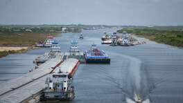 A heavy buildup of silt left by Hurricane Harvey is blocking many of the barges that use  the Gulf Intracoastal Waterway between Houston and Corpus Christi, including near Matagorda.
