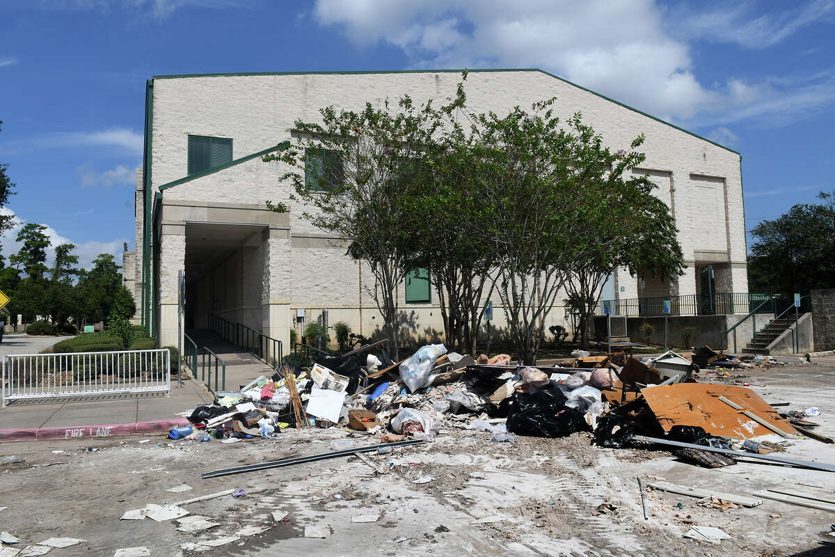 Recovery efforts have started on The Barbara Bush Library in Spring after the flooding from Hurricane Harvey. (Photo by Jerry Baker/Freelance)