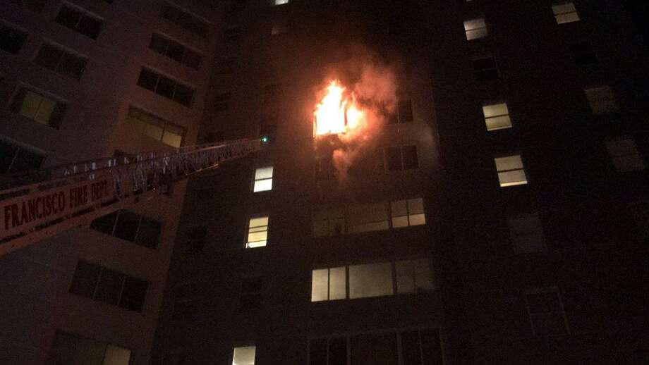 Fire Breaks Out At Apartment Tower Near San Francisco State
