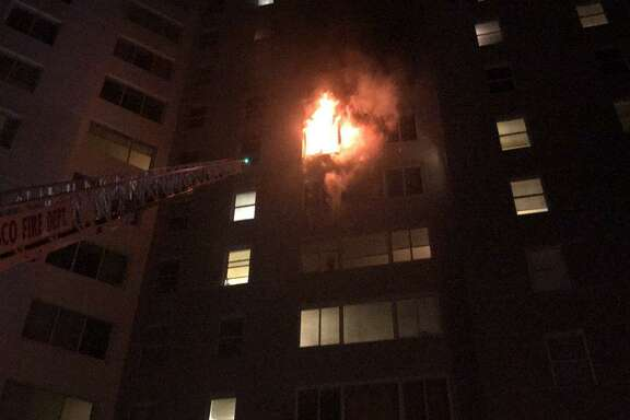 Two people were injured in an early morning fire at Parkmerced apartments in San Francisco, fire officials said.