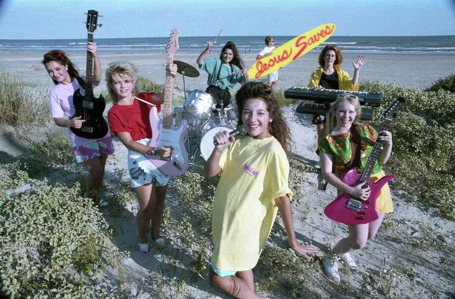 Christian surf band Surfside Witness at Galveston, Sept. 30, 1987. Photo: Larry Reese, Houston Chronicle