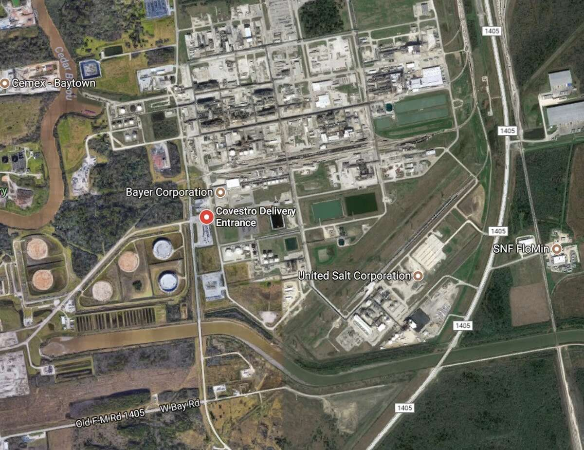 Location of Covestro facility in Baytown.