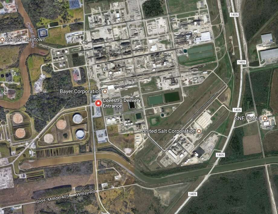 Location of Covestro facility in Baytown. Photo: Google Maps