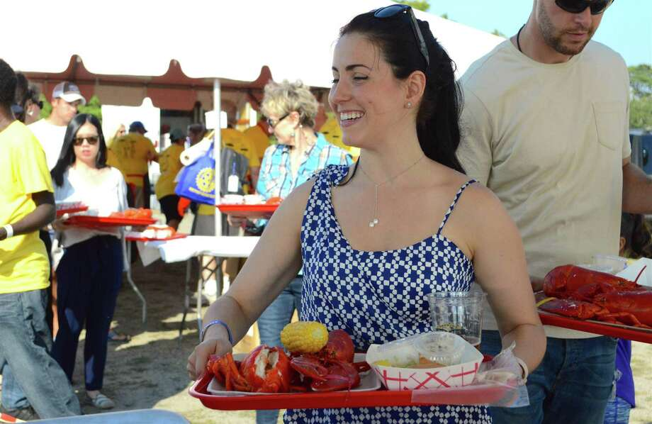 Patricia Lewine of Fairfield at the Rotary Club of Westport's sixth annual LobsterFest at Compo Beach, Saturday, Sept. 16, in Westport. Photo: Jarret Liotta / For Hearst Connecticut Media / Westport News Freelance