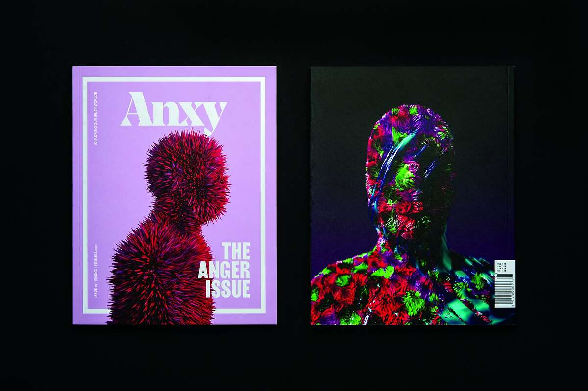 Anxy is a new Berkeley publication that tackles mental health and emotional issues. These images are from its Spring/Summer 2017 issue. Credit: Anxy magazine