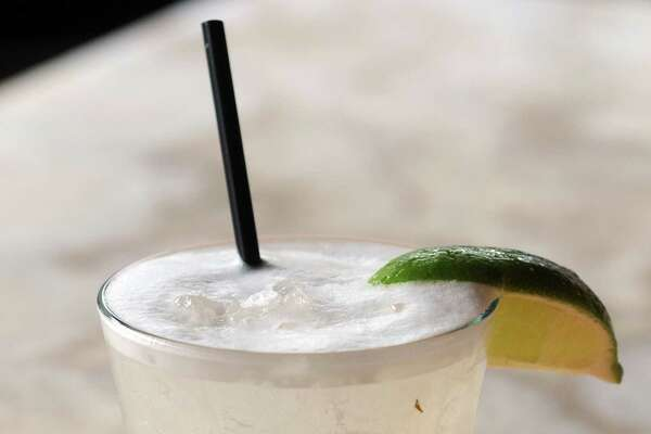 The Geronimo Margarita made with their house tequila, Antiguo. Geronimo Restaurant, New Haven. Mara Lavitt/New Haven Register 11/29/12