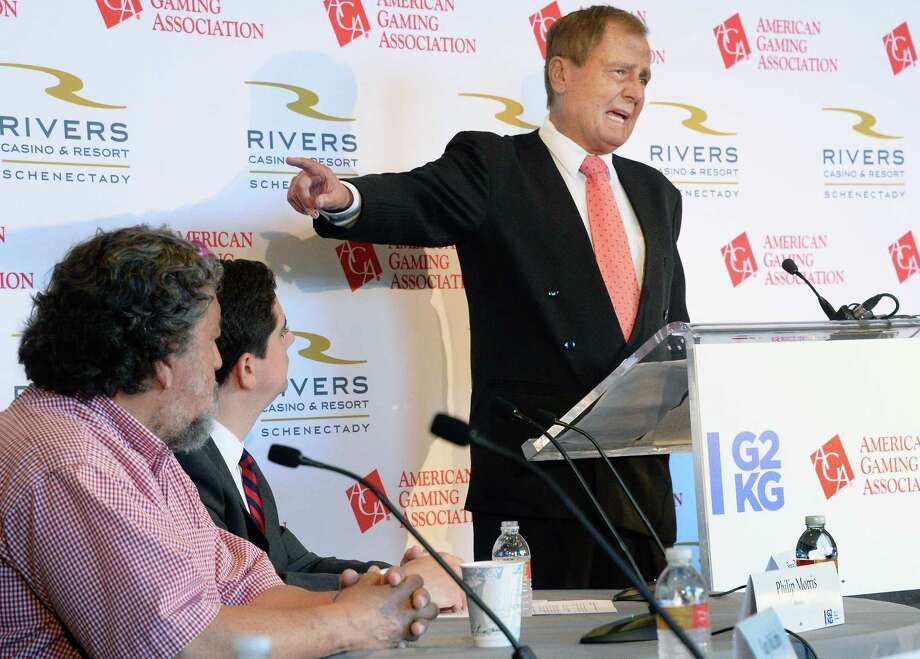 State Senator John Bonacic speaks during the American Gaming Association's informal panel about job growth surrounding the casino industry at the Rivers Casino Tuesday Sept. 19, 2017 in Schenectady, NY. Bonacic said, ?I say no matter what the expectations are if they come up a little short, it?s a huge success because of the benefits I?m talking about.?  (John Carl D'Annibale / Times Union) Photo: John Carl D'Annibale / 20041585A