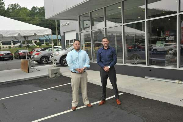 Alfano Nisaan recently moved to a new location on Winsted Road in Torrington. Above, Kit Nan and Jon Alfano.