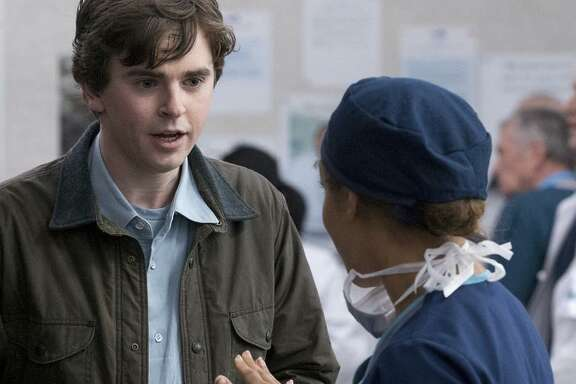 """Dr. Shaun Murphy (Freddie Highmore) is an autistic surgeon in """"The Good Doctor."""""""