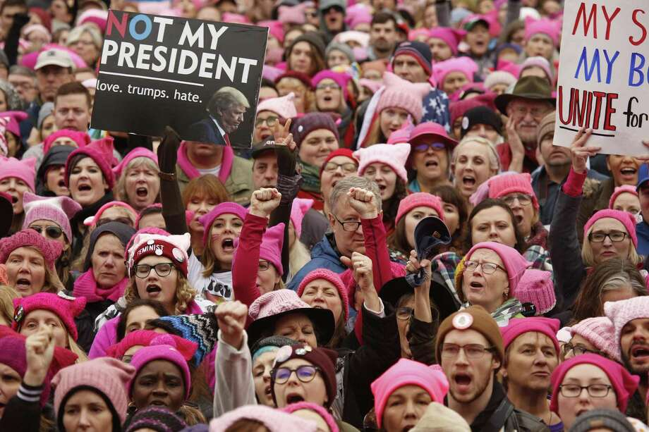 Thousands gather for the Women's March on Washington, D.C., ending at the White House on Saturday, Jan. 21, 2017. (Carolyn Cole/Los Angeles Times/TNS) Photo: Carolyn Cole / TNS / Los Angeles Times