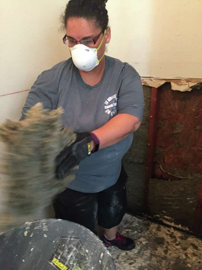 It was important to put some sweat equity into recovering from Hurricane Harvey. Photo: Courtesy
