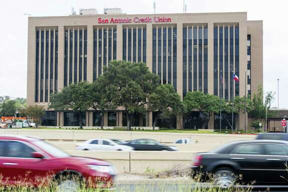 The Credit Human credit union headquarters building at 6061 I-10 West is seen Wednesday, Sept. 20, 2017. The building still shows the company's former name, San Antonio Credit Union.