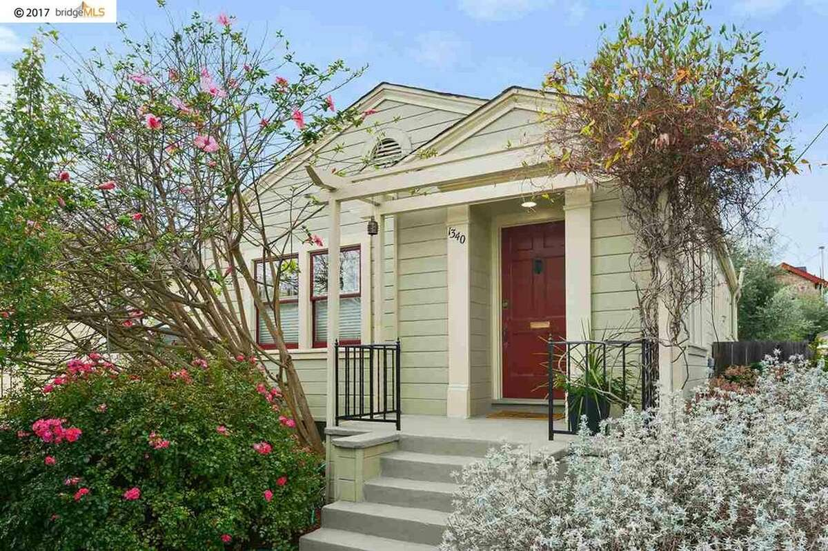 This $745,000 two-bedroom home in Berkeley's Westbrae neighborhood at 1340 Curtis has a sunny interior and lush garden and is close to shops and restaurants.