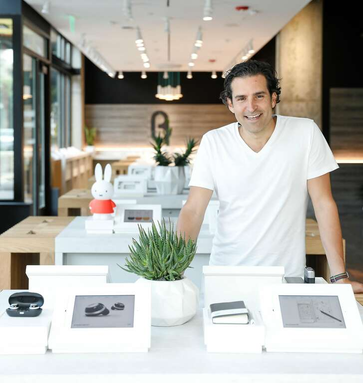 Phillip Raub, co-founder and chief marketing officer of B8ta, is seen on Tuesday, Sept. 12, 2017 in San Francisco, Calif., at the company's Hayes Valley store.