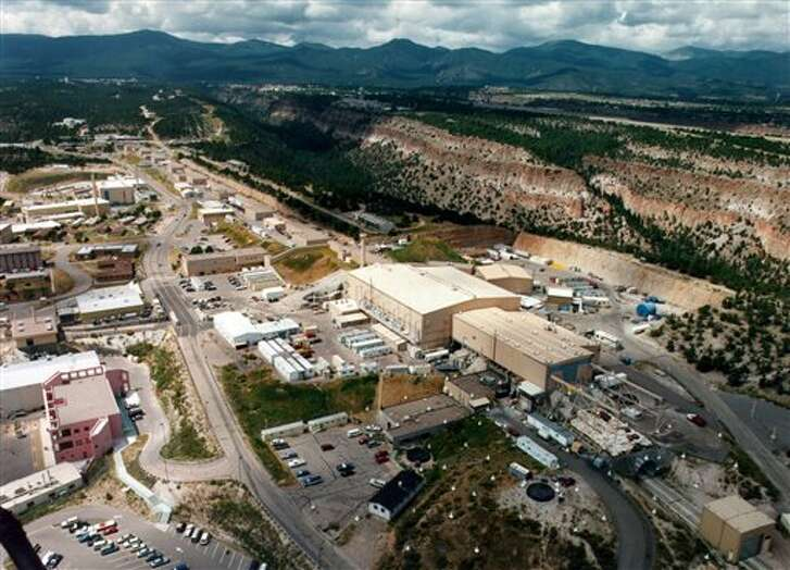 This undated aerial view shows the Los Alamos National laboratory in Los Alamos, N.M.