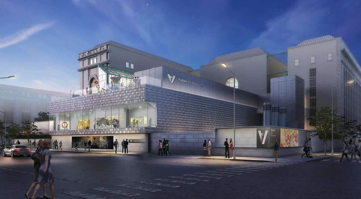 A rendering of the planned addition of new terrace-topped exhibition space to the Asian Art Museum. The project, designed by Los Angeles' wHY architects, could begin construction early in 2018 and open in 2019.