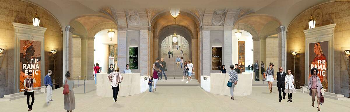 A rendering of the planned makeover of the entrance to the Asian Art Museum. The project, designed by Los Angeles' wHY architects, also includes a new exhibition space and outdoor terrace along Hyde Street. The target opening date is 2019.