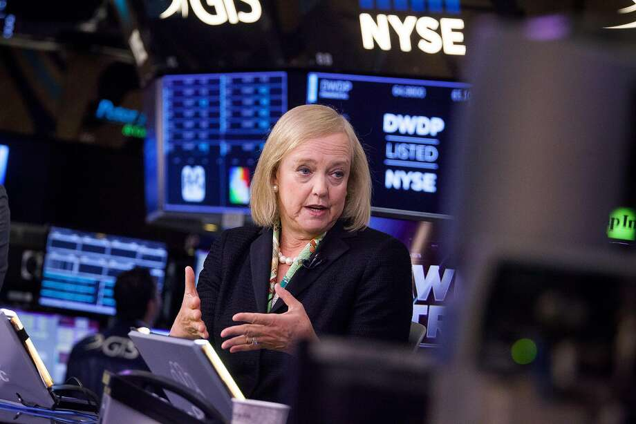 Hewlett Packard Enterprise, with CEO Meg Whitman, plans to lay off 10 percent of workers. Photo: Michael Nagle, Bloomberg