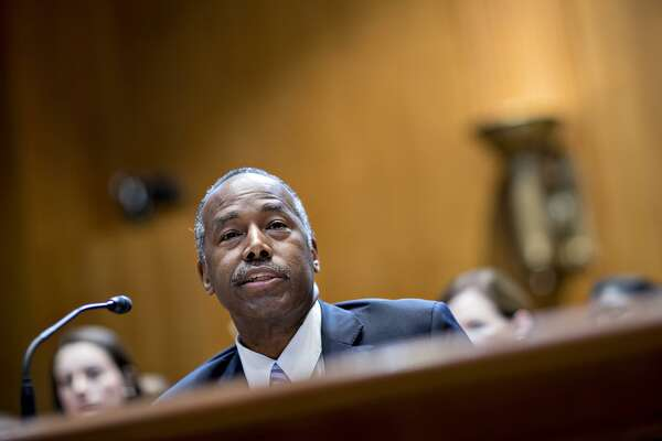 Ben Carson, secretary of Housing and Urban Development, speaks during a Senate Appropriations Subcommittee hearing in Washington on June 7, 2017. (MUST CREDIT: Andrew Harrer/Bloomberg)