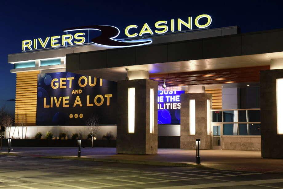Exterior of Rivers Casino & Resort at night on Thursday Feb. 2, 2017 in Schenectady, N.Y. (Lori Van Buren / Times Union) Photo: Lori Van Buren / 20039606A