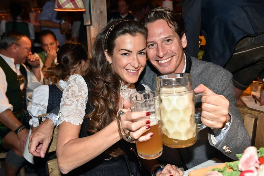 MUNICH, GERMANY - SEPTEMBER 21:  Axel Ludwig, Director Hotel Vier Jahreszeiten, and his girlfriend Claudia Schwarz at the Kaefer Wiesn-Schaenke during the Oktoberfest at Theresienwiese on September 21, 2017 in Munich, Germany.  (Photo by Hannes Magerstaedt/Getty Images) Photo: Hannes Magerstaedt/Getty Images