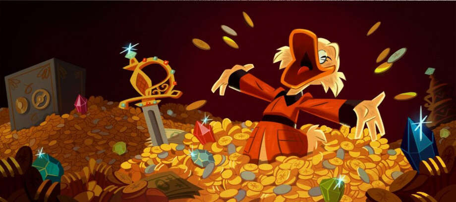 "Scrooge McDuck still very much loves his money in the new Disney XD ""DuckTales"" series. MUST CREDIT: Disney XD. Photo: Disney XD / Submitted"