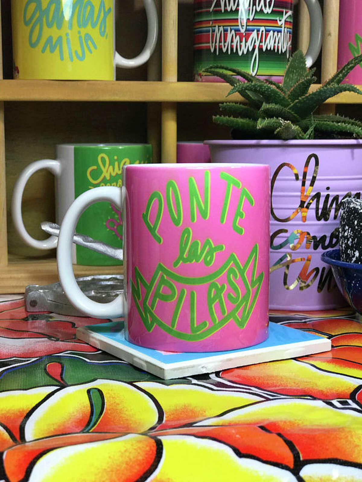 """""""Ponte Las Pilas"""" mug $13.50"""
