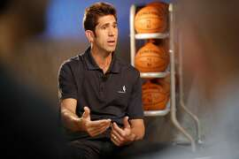 Warriors' general manager Bob Myers during 2017 media day for the NBA's Golden State Warriors in Oakland, Ca., on Friday September 22,  2017.