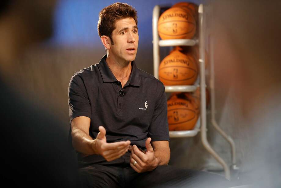 Warriors' general manager Bob Myers during 2017 media day for the NBA's Golden State Warriors in Oakland, Ca., on Friday September 22,  2017. Photo: Michael Macor, The Chronicle