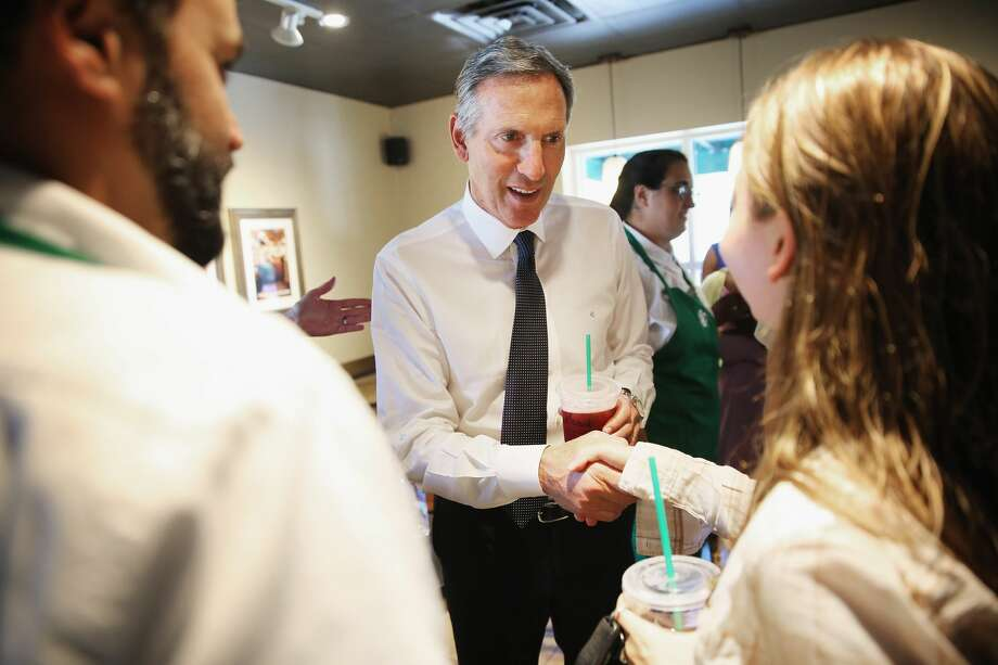 Starbucks CEO Howard Schultz announced Monday that he would be stepping down from his role at Starbucks at the end of June. Photo: Chip Somodevilla/Getty Images