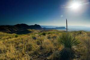 The view from Sotol Vista along the Ross Maxwell Scenic Drive in Big Bend National Park Saturday, April 8, 2017. ( Michael Ciaglo / Houston Chronicle)
