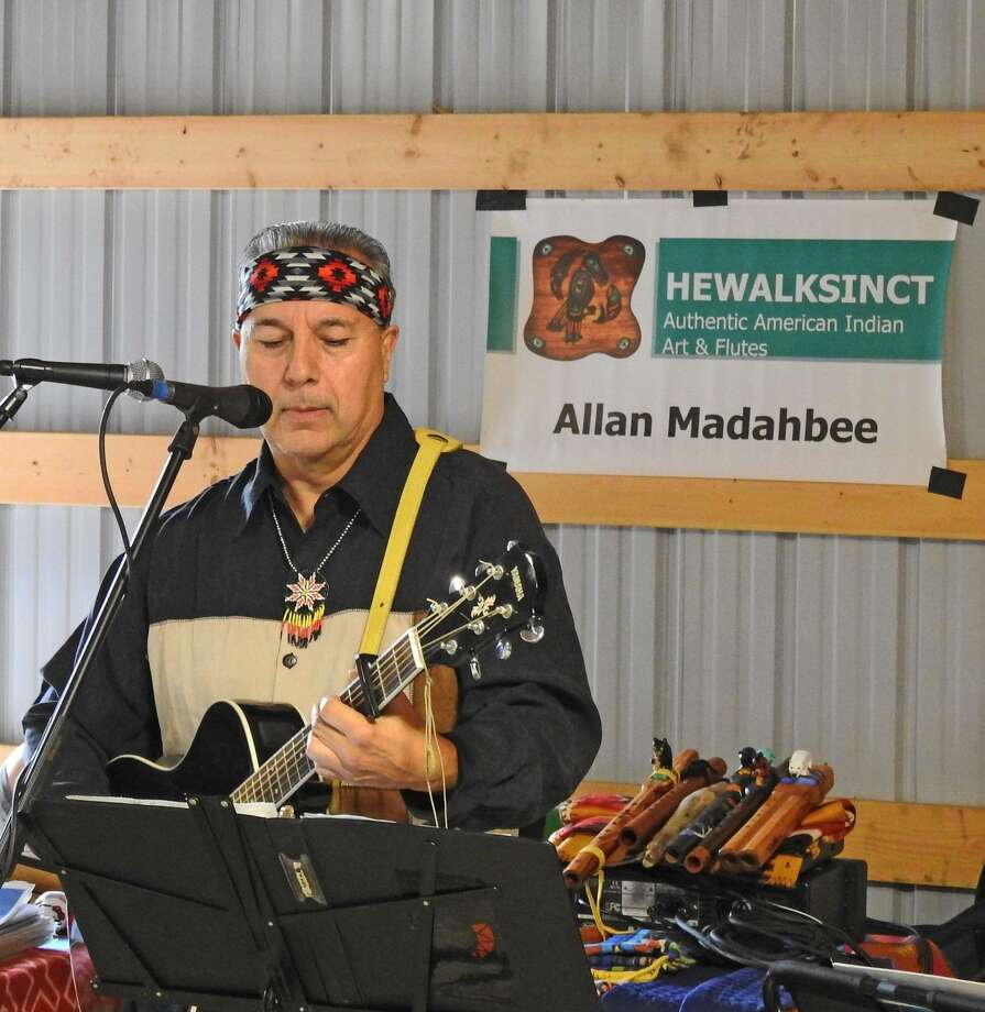 Featured musician at the Hammonassett Festival is Allan Madahbee (Ojibway), who will be playing Native American flute music and guitar. Photo: Barbara Hanson / Contributed Photo