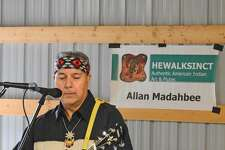 Featured musician at the Hammonassett Festival is Allan Madahbee (Ojibway), who will be playing Native American flute music and guitar.