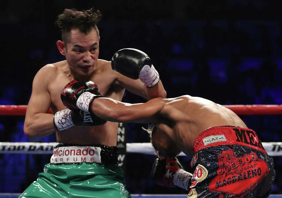Nonito Donaire (let) of the Philippines and Jessie Magdaleno exchange punches during their WBO junior featherweight championship fight at the Thomas & Mack Center on Nov. 5, 2016 in Las Vegas. Photo: Christian Petersen /Getty Images / 2016 Getty Images