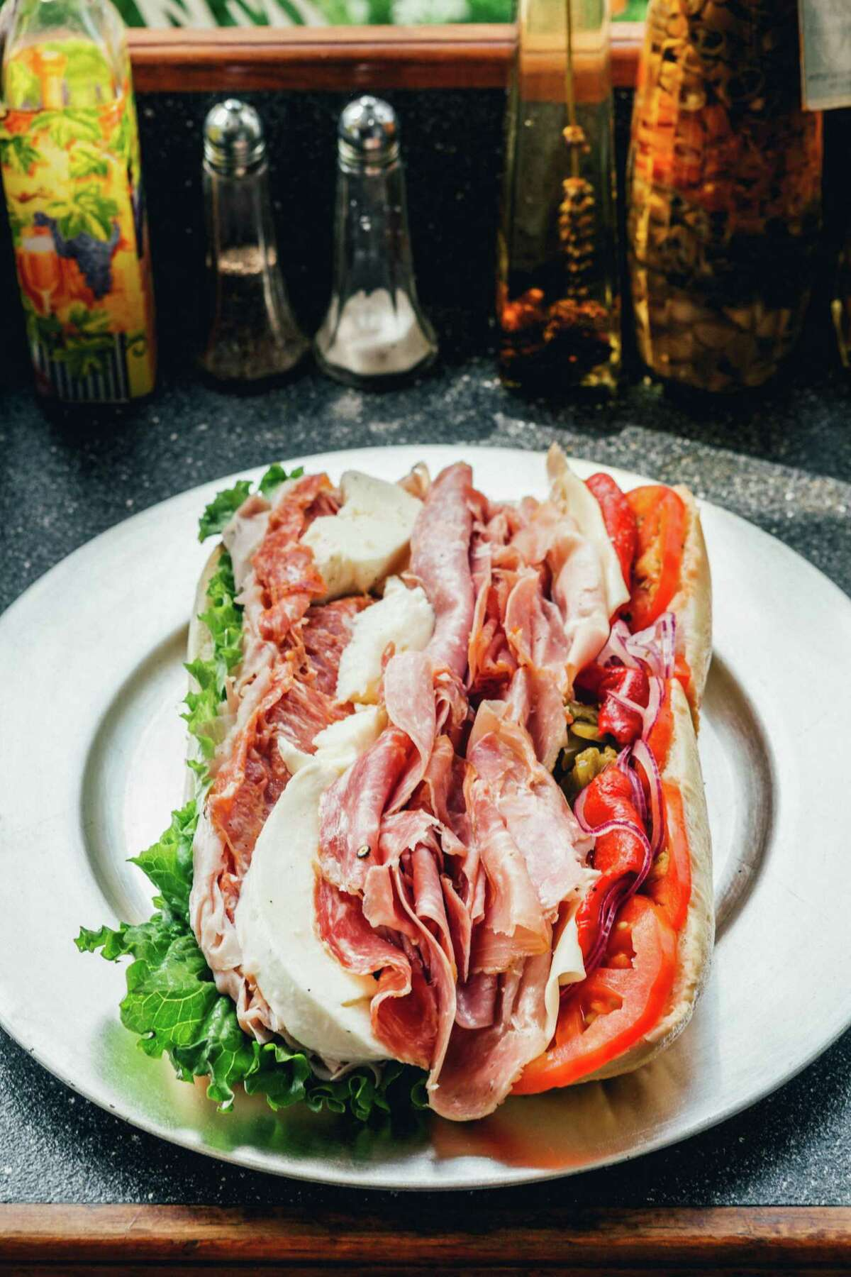 The Vito Corleone, otherwise known as the Godfather Sandwich, at Executive Corner Deli Catering in Greenwich.