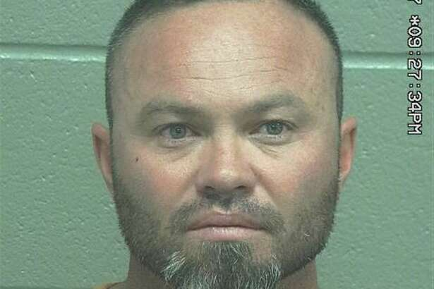 Billy Cole Blackmon, 42,was arrested Sunday after he allegedly exhibited a firearm and a knife, according to court documents.