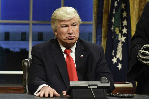 """Alec Baldwin portraying President Donald Trump on """"Saturday Night Live."""" We think such skits are funny because they are done by masters of satire, but, when you get right down to it, we teach our kids not to make fun of other people, don't we?"""