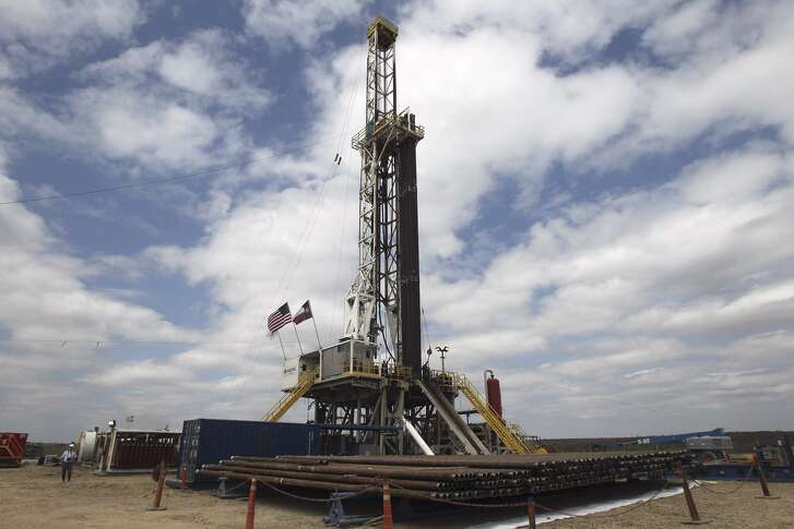 A drilling rig is seen near Tilden in McMullen County. McMullen County has just 804 residents and sits on the western side of the 400-mile Eagle Ford Shale field, which pumps more than 1.2 million barrels of oil per day. A proposed 300-acre oil field landfill north of Tilden would accept such things as oil-based muds, soil contaminated by oil spills and pipeline spills, and drill cuttings, the broken bits of rock and dirt that get drilled through on the way to finding oil and gas. Several South Texas communities are opposing the project.