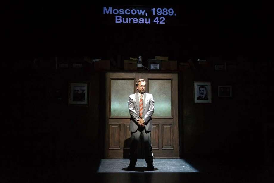 Jason Babinsky as Vova in Alley Theatre's World Premiere of Describe the Night by Rajiv Joseph. The production runs September 15-October 15 at the University of Houston's Quintero Theatre. Photo: Lynn Lane / Lynn Lane
