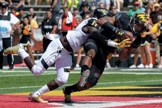 DJ Moore has at least one catch in 23 consecutive games and leads the Big Ten with 115 receiving yards per game.