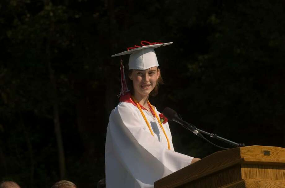 New Canaan High School Class of 2010 graduation ceremony Wednesday, June 23, 2010. Photo: Keelin Daly / Stamford Advocate