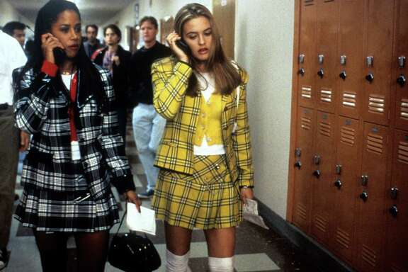 """Alicia Silverstone (center) played a superficial teenager in the 1995 film """"Clueless."""" She was known for peppering her sentences with phrases like, well, like — a usage that continues to this day."""