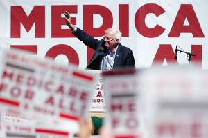 Sen. Bernie Sanders, I-Vt., during a nurses convention rally at Yerba Buena Gardens on Friday, Sept. 22, 2017, in San Francisco, Calif. Sanders promoted his Medicare for All 2017 plan.