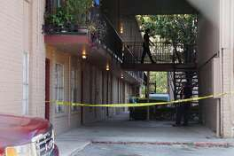 A man in his 30s was stabbed at the Arriba Apartments in the 5200 block of Blanco Road.