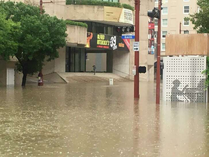 While the Alley Theater sustained serious damage, varying volumes of floodwaters stormed Da Camera, Houston Ballet, Houston Grand Opera, Houston Symphony, Society for the Performing Arts and Theatre Under the Stars. But as they say in the theater world: The show must go on. (Alley Theater/NYT)