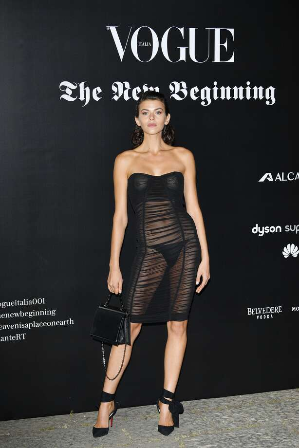 Victoria's Secret model Georgia Fowler was the center of attention at a Milan Fashion Week party, where she wore a completely see through dress. >> See other sheer looks through the years.  Photo: Getty Images