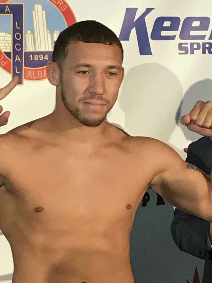 """Albany native Will Madera headlines the """"Rumble on the River"""" boxing card at the Rivers Casino in Schenectady. (Jason Franchuk / Times Union)"""