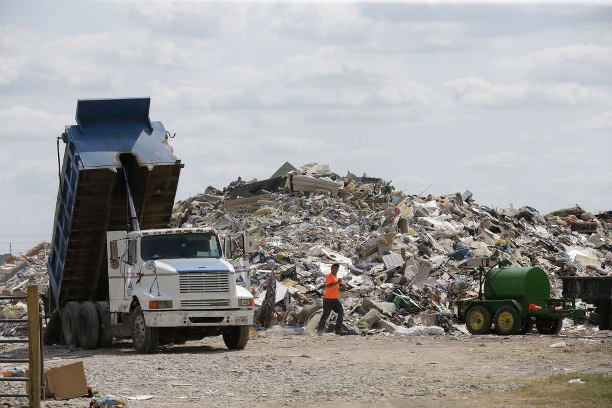 At least two unauthorized dump sites have built up on private property without required permits from the state environmental commission.