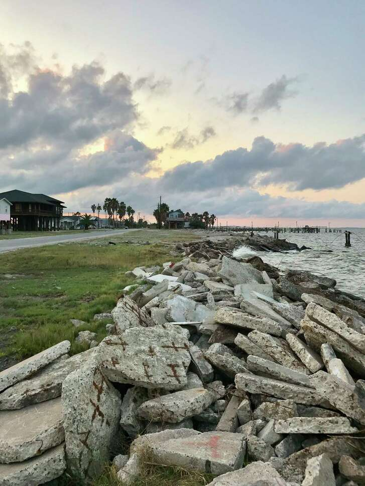 Once a thriving port city with a population of at least 5,000, Indianola today is home to several dozen residents living in beach houses on the bay.
