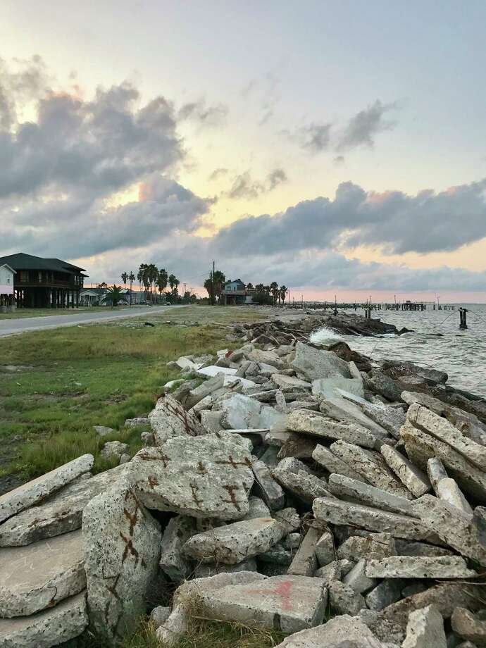 Once a thriving port city with a population of at least 5,000, Indianola today is home to several dozen residents living in beach houses on the bay. / Houston Chronicle
